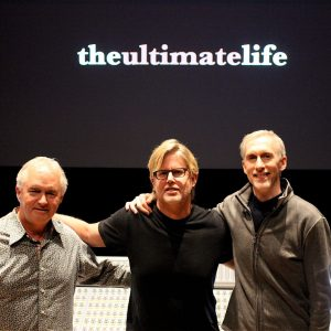 Executive Producer Rick Eldridge, Director Michael Landon Jr., Mark McKenzie at final sound mix for THE ULTIMATE LIFE.   Two film makers I admire and enjoy working with in the same room on a beautiful  project.  Couldn't have been happier.