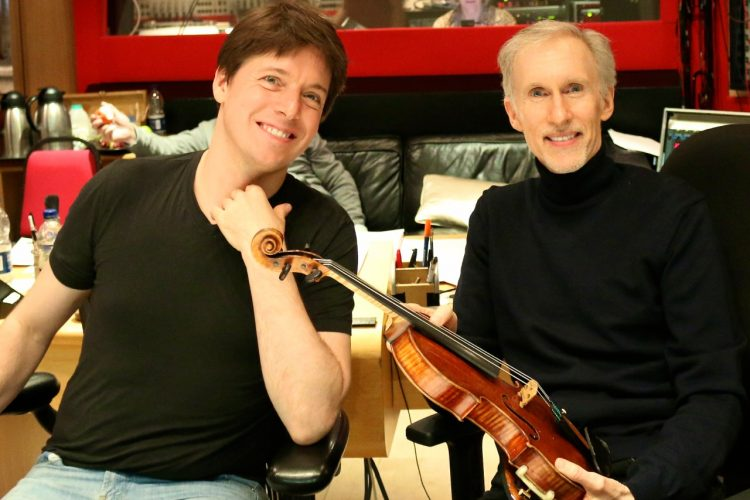Honored to work with the greatest violinist of our generation Joshua Bell on my latest score MAX AND ME. I admire Joshua's artistry more than any other because of the depth of expression in each note and phrase. And…thanks for letting me hold your Stradavarius Joshua.