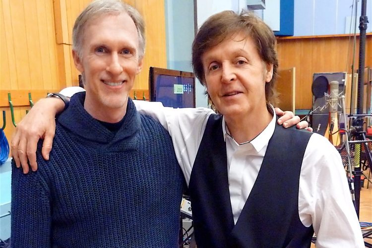 Mark McKenzie & Paul McCartney working together at the famed Abbey Road Studios.
