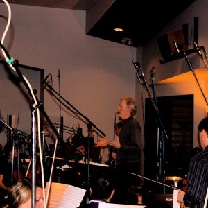 "Mark McKenzie speaking to orchestra before recording ""The Ultimate Life"""